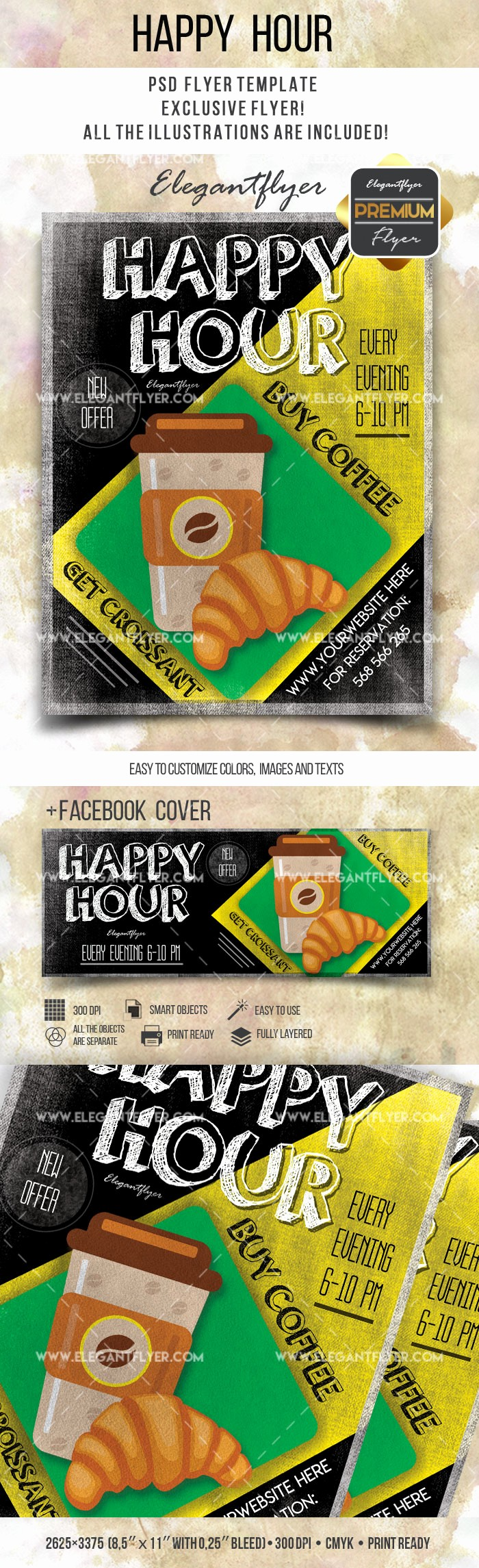 Happy Hour Flyer Template Free Awesome Happy Hour Invitation Template – by Elegantflyer