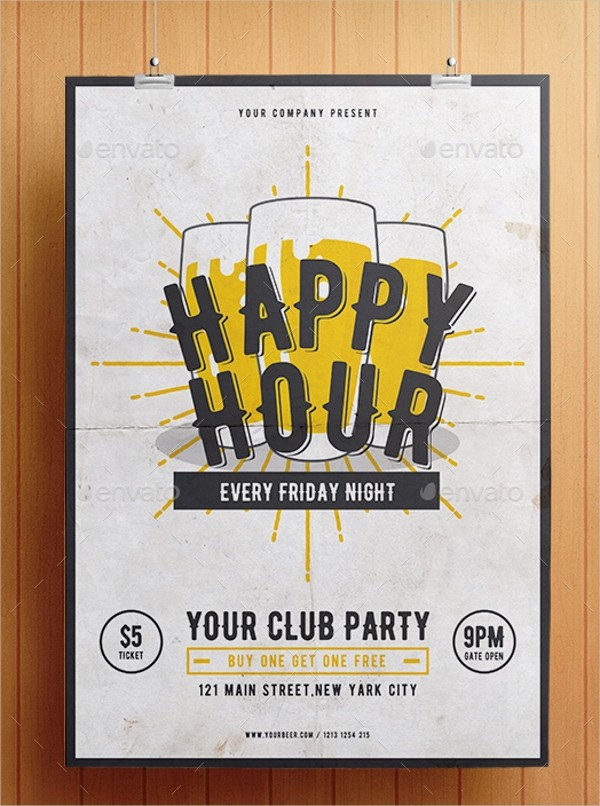 Happy Hour Flyer Template Free Beautiful 21 Happy Hour Flyer Templates Free Psd Ai Eps format