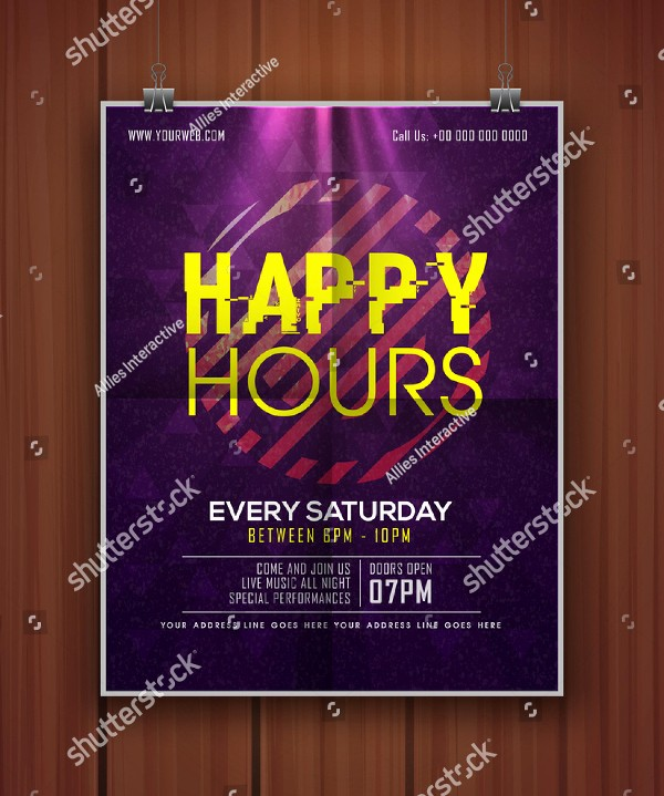 Happy Hour Flyer Template Free Beautiful 24 Happy Hour Flyer Templates Free Psd Ai Eps format