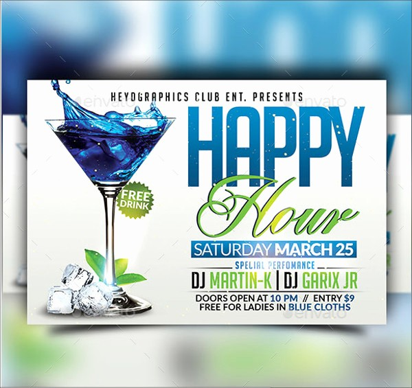 Happy Hour Flyer Template Free Best Of 23 Happy Hour Flyer Templates Psd Vector Eps Jpg