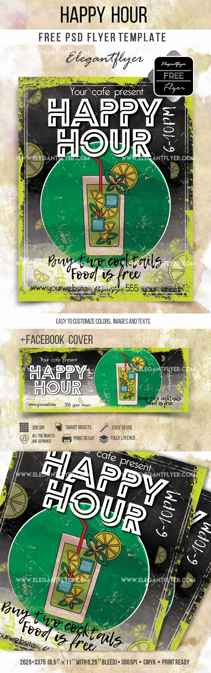 Happy Hour Flyer Template Free Best Of Happy Hour Flyer Free Psd Template – by Elegantflyer