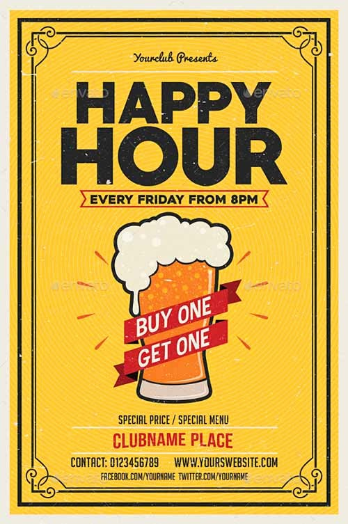 Happy Hour Flyer Template Free Fresh Ffflyer