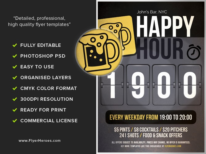 Happy Hour Flyer Template Free Fresh Happy Hour Flyer Template Flyerheroes