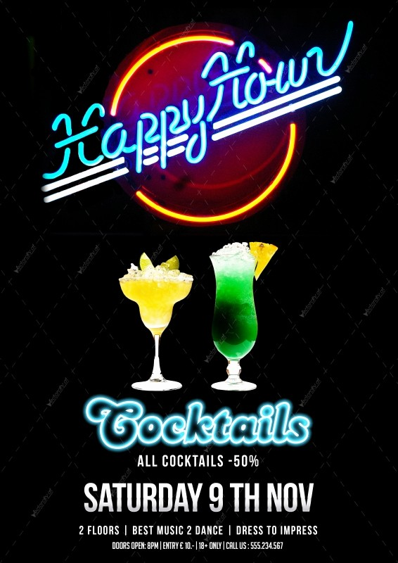 Happy Hour Flyer Template Free Lovely 17 Happy Birthday Flyers Psd Birthday Party Flyer