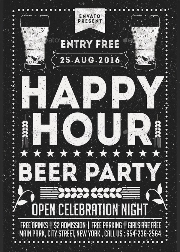 Happy Hour Flyer Template Free Lovely 21 Happy Hour Flyer Templates Free Psd Ai Eps format