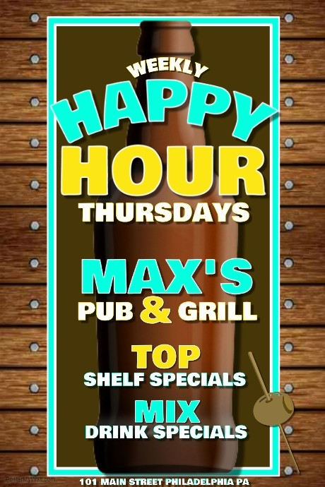 Happy Hour Flyer Template Free Lovely Happy Hour Template