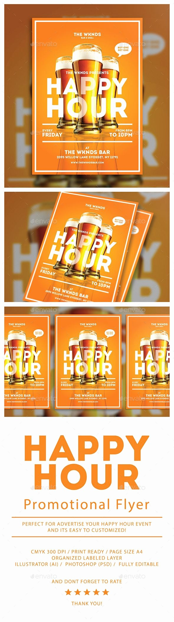 Happy Hour Flyer Template Free Luxury Happy Hour Flyer