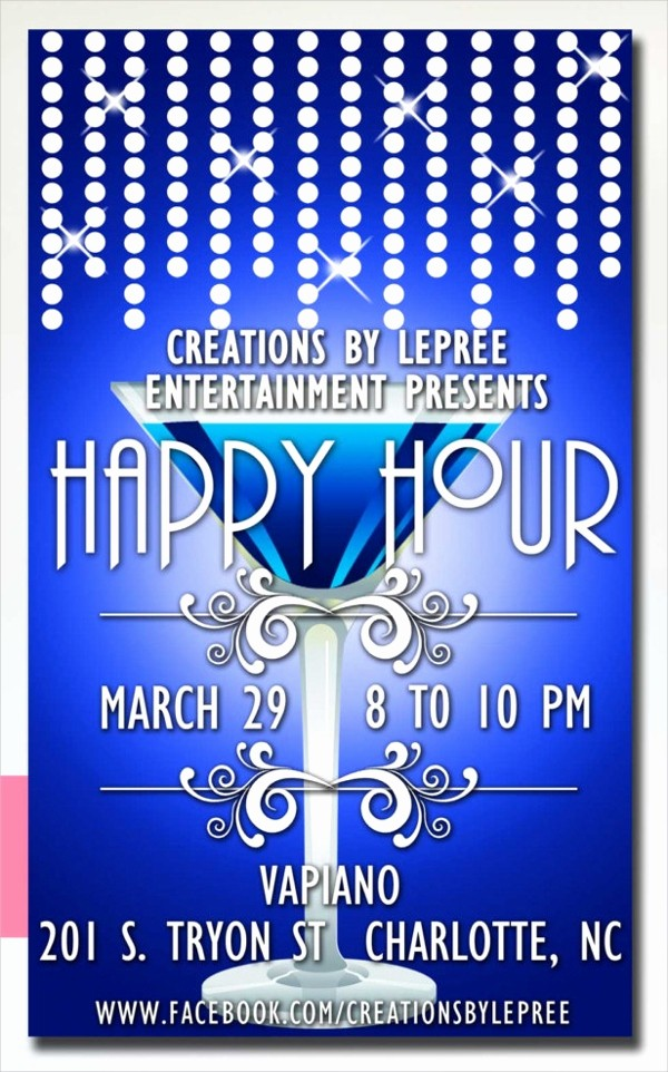 Happy Hour Flyer Template Free Unique 21 Happy Hour Flyer Templates Free Psd Ai Eps format