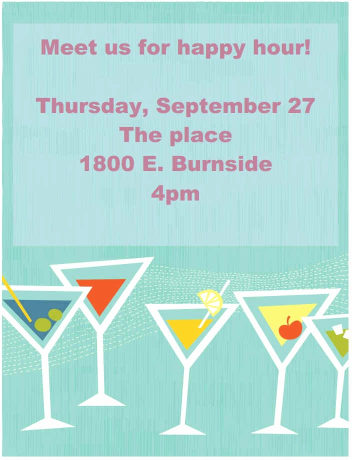 Happy Hour Flyer Template Free Unique Printable event and Promotion Signs