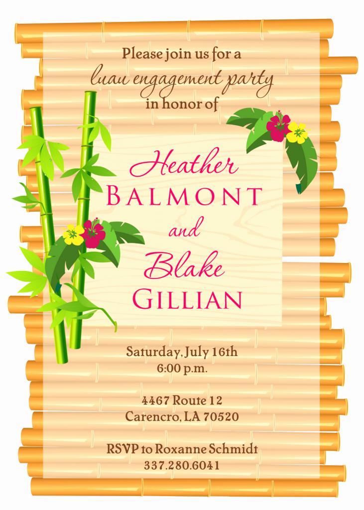 Hawaiian Party Invitation Template Free Beautiful Luau Invitations Templates Party Xyz