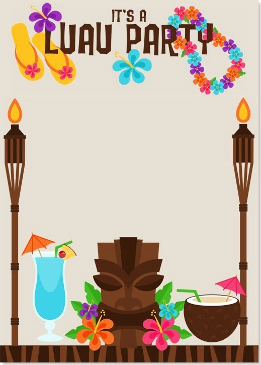 Hawaiian Party Invitation Template Free Best Of Image Result for Luau Invitations Templates Free