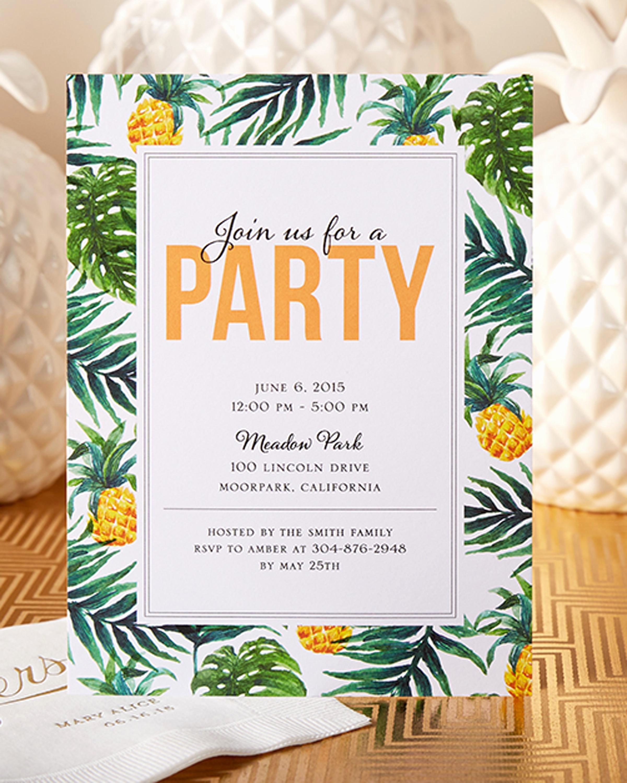 custom luau invitations for your tropical away