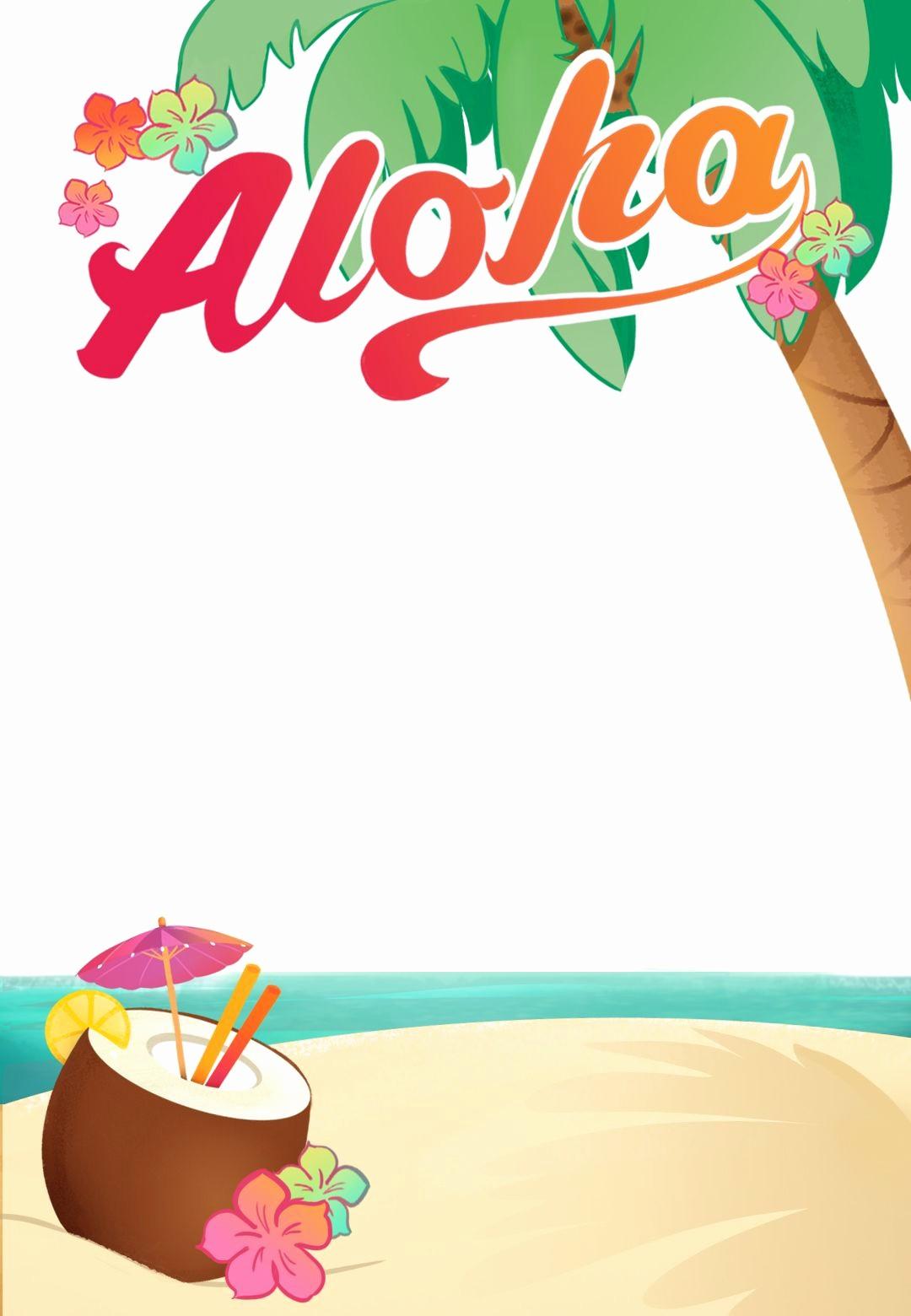 Hawaiian Party Invitation Template Free Elegant Luau Party Free Printable Summer Party Invitation