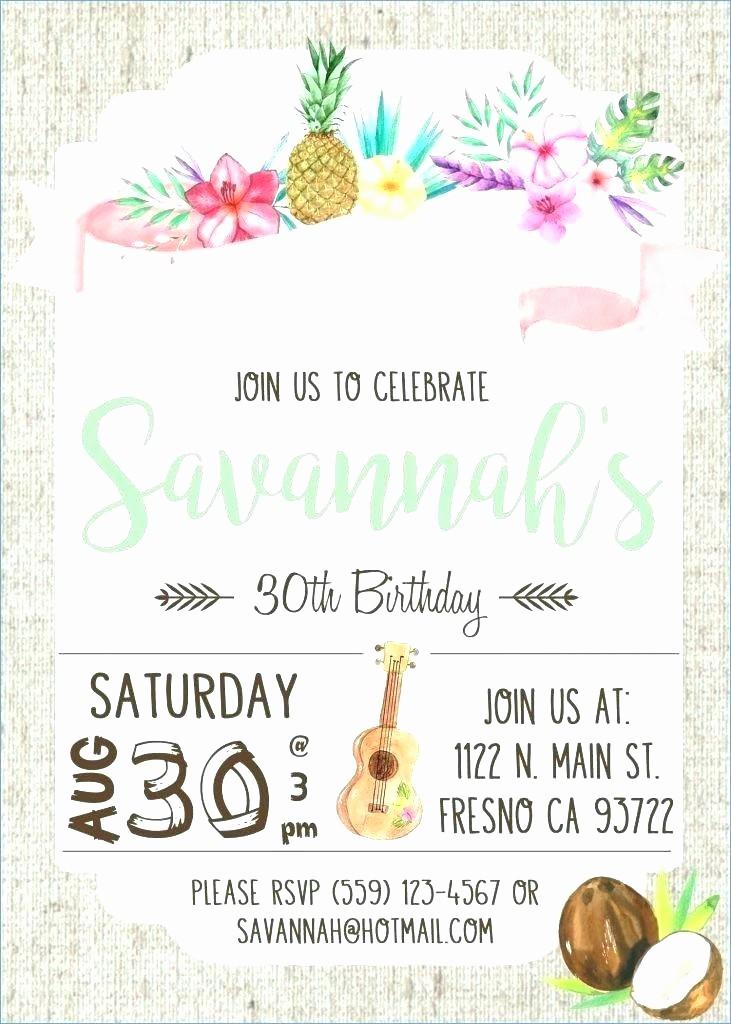 Hawaiian Party Invitation Template Free Inspirational Luau Invitation Set theme Party Hula Girl Plays Blank