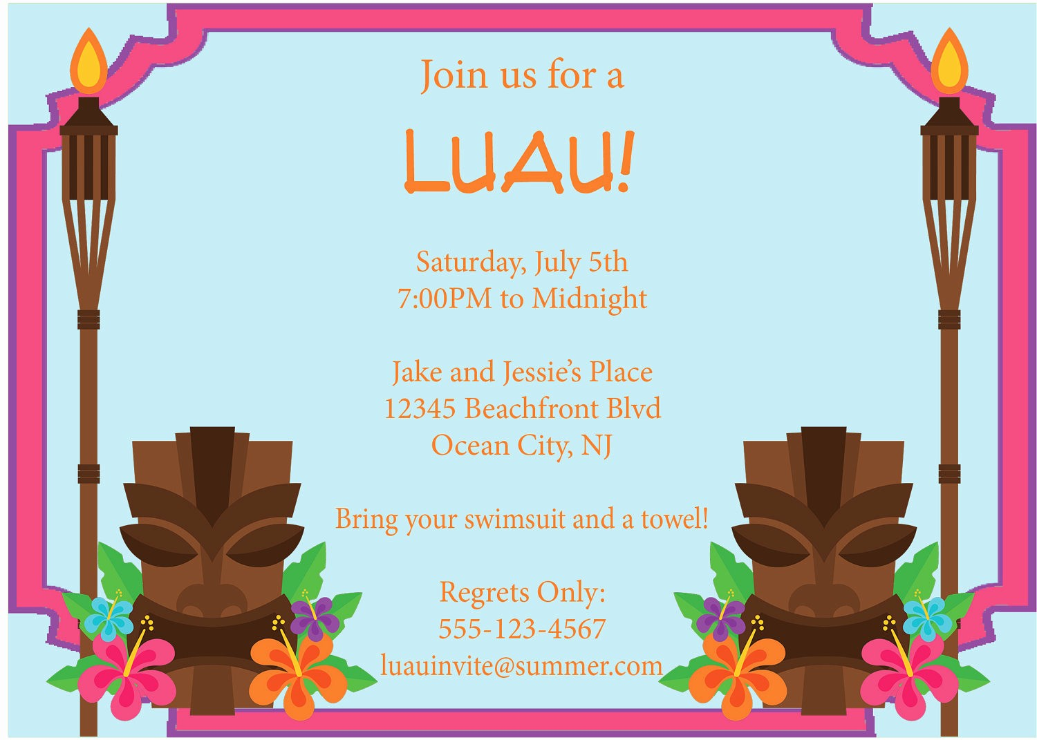 Hawaiian Party Invitation Template Free Lovely 9 Best Of Free Printable Luau Flyers Free