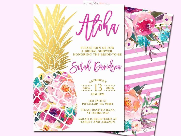 Hawaiian Party Invitation Template Free Luxury Best 25 Hawaiian Invitations Ideas On Pinterest