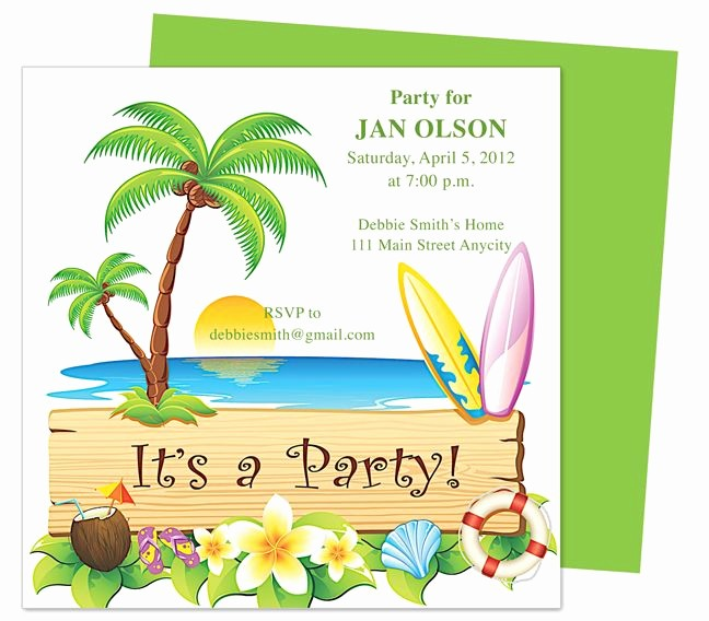 Hawaiian Party Invitation Template Free Luxury General Birthday Native Birthday Invitation Templates