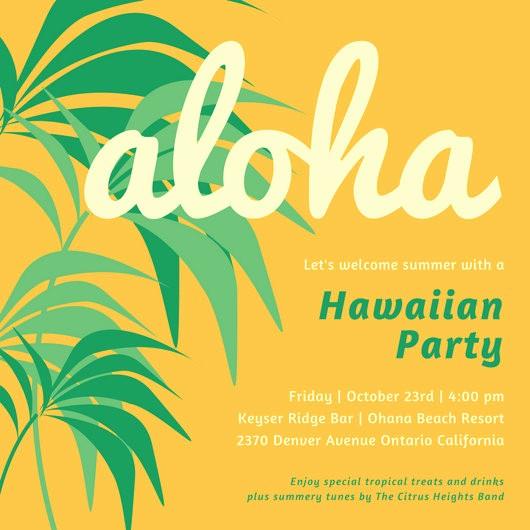 Hawaiian Party Invitation Template Free Luxury Luau Invitation Templates Canva