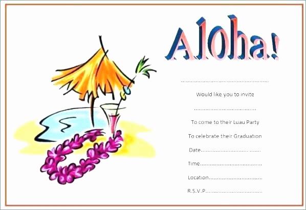 Hawaiian Party Invitation Template Free New Invitation Template Free Party Invite Luau Invitations