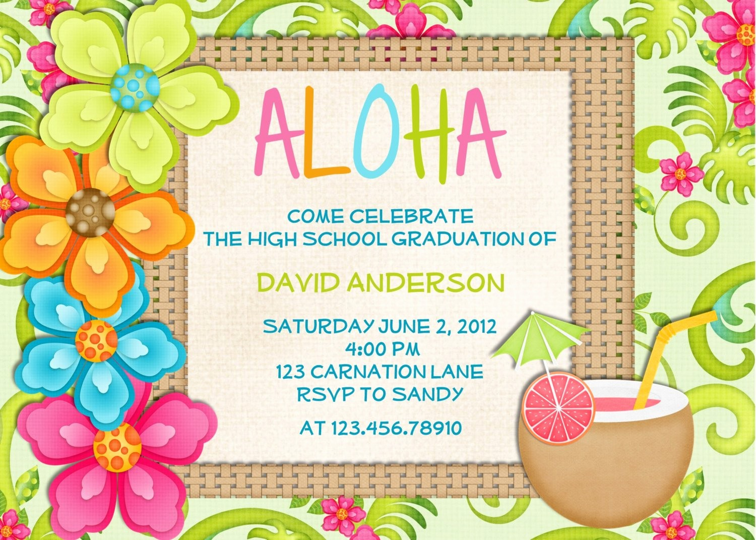 Hawaiian theme Party Invitations Printable Awesome Luau Birthday Invitation Sweet 16 Tropical Hawaiian Hula Party