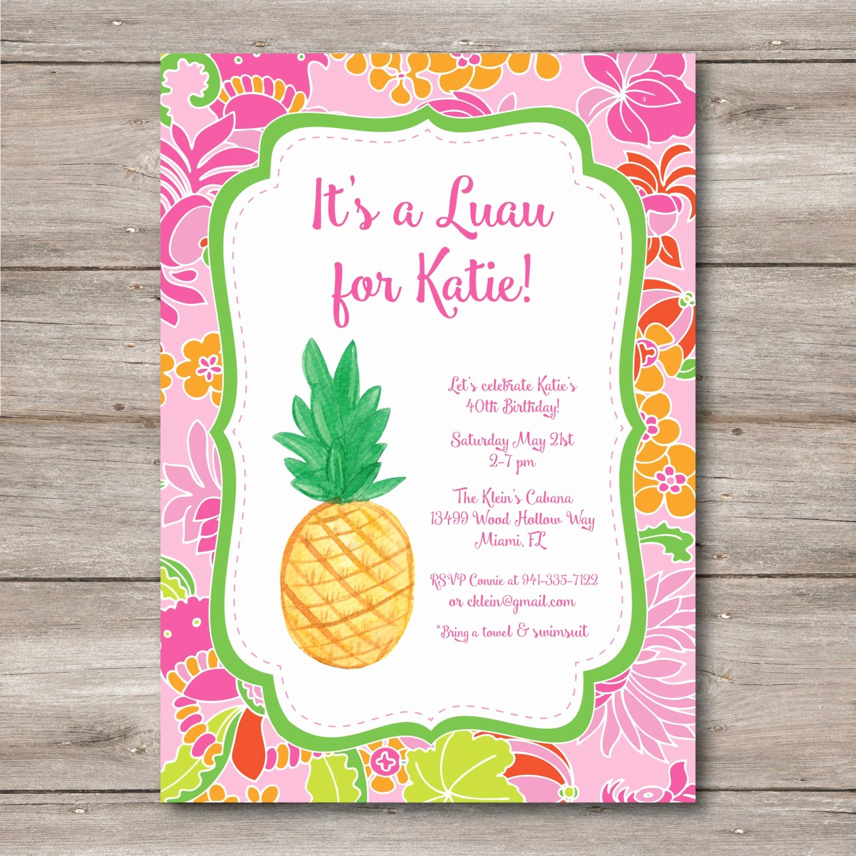 Hawaiian theme Party Invitations Printable Beautiful Luau Invitation with Editable Text to Print at Home Diy Luau