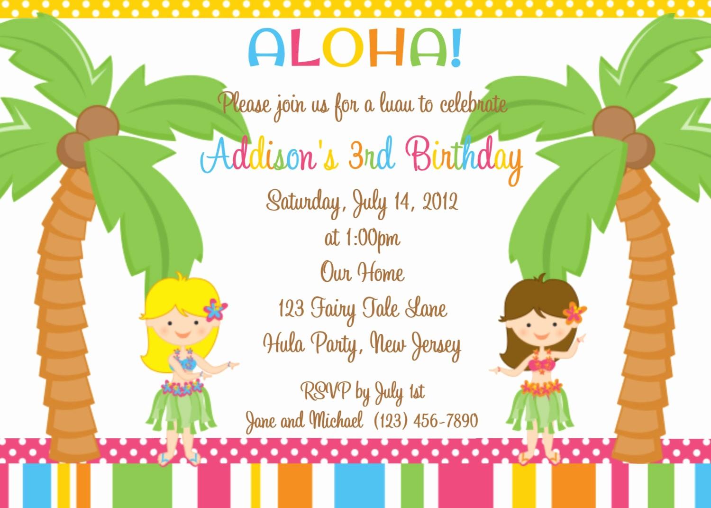 Hawaiian theme Party Invitations Printable Inspirational Free Luau Invitation Templates
