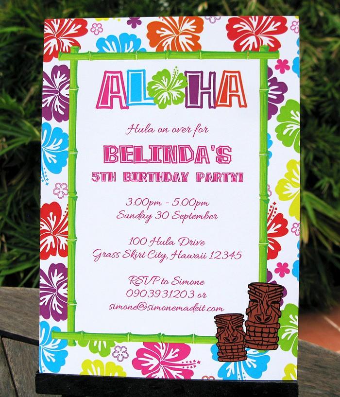 Hawaiian theme Party Invitations Printable Luxury Luau Birthday Party Invitations