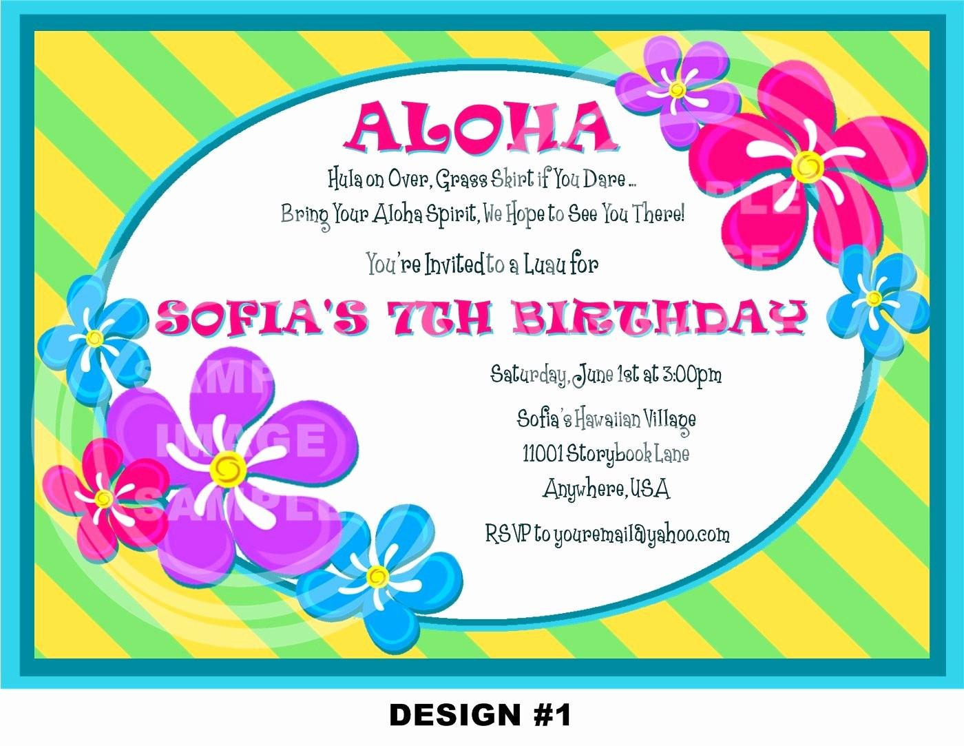 Hawaiian theme Party Invitations Printable Luxury Luau Invitation Luau Birthday Invitation Pool Party