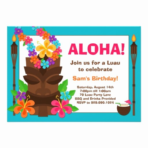 Hawaiian theme Party Invitations Printable Luxury Luau Invitation Templates Invitation Template