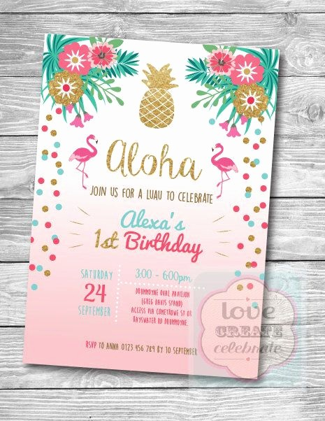 Hawaiian theme Party Invitations Printable New Best 20 Hawaiian Birthday Ideas On Pinterest