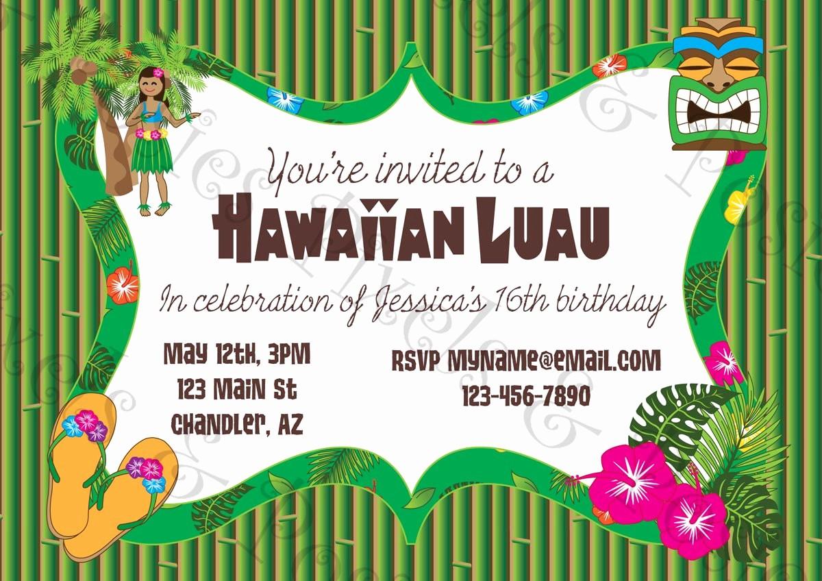Hawaiian theme Party Invitations Printable New Printable Luau Invitation Clipart Clipart Suggest