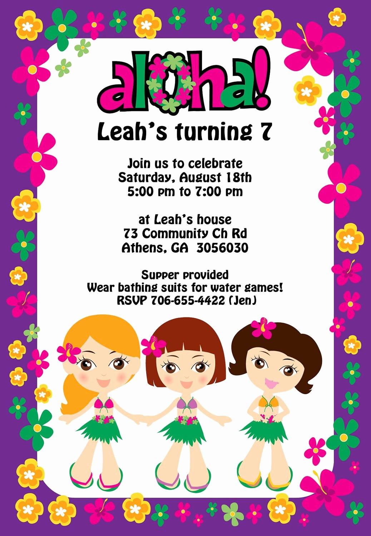 Hawaiian theme Party Invitations Printable New Printable Luau Party Invitation by Cohenlane On Etsy