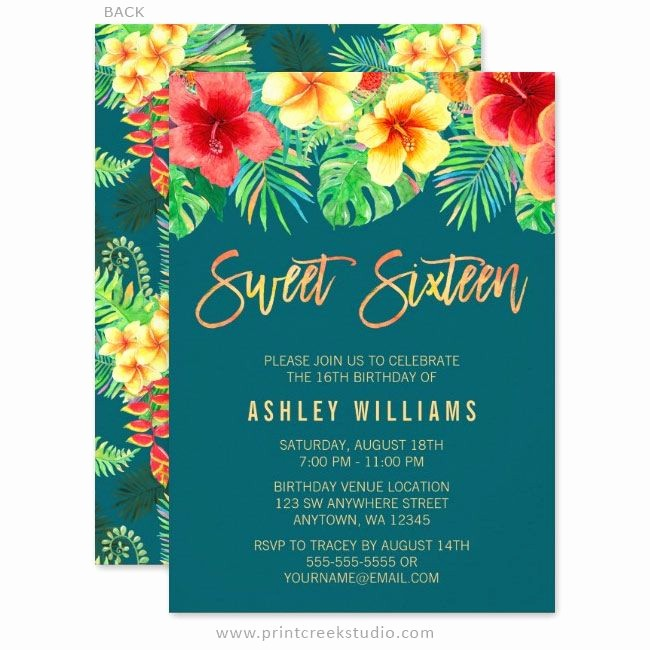 Hawaiian themed Invitation Templates Free Awesome Best 25 Luau Birthday Invitations Ideas On Pinterest
