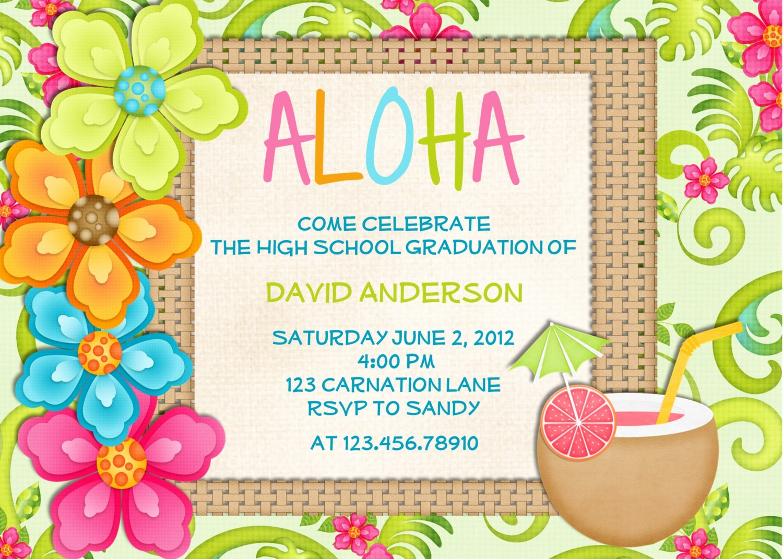 Hawaiian themed Invitation Templates Free Inspirational 20 Luau Birthday Invitations Designs