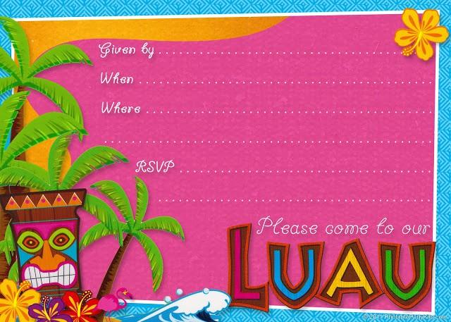 Hawaiian themed Invitation Templates Free Inspirational Invitaciones Etiquetas Y toppers De Fiesta Hawaiana Para