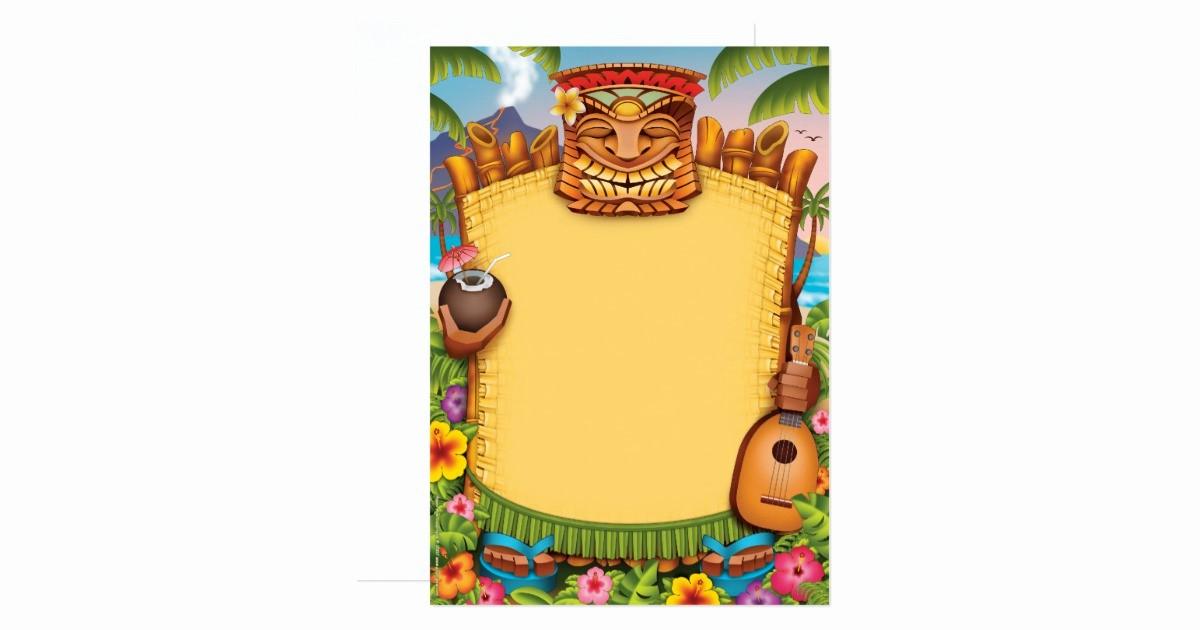 Hawaiian themed Invitation Templates Free Inspirational Luau Invitations Hawaiian Party Invitations