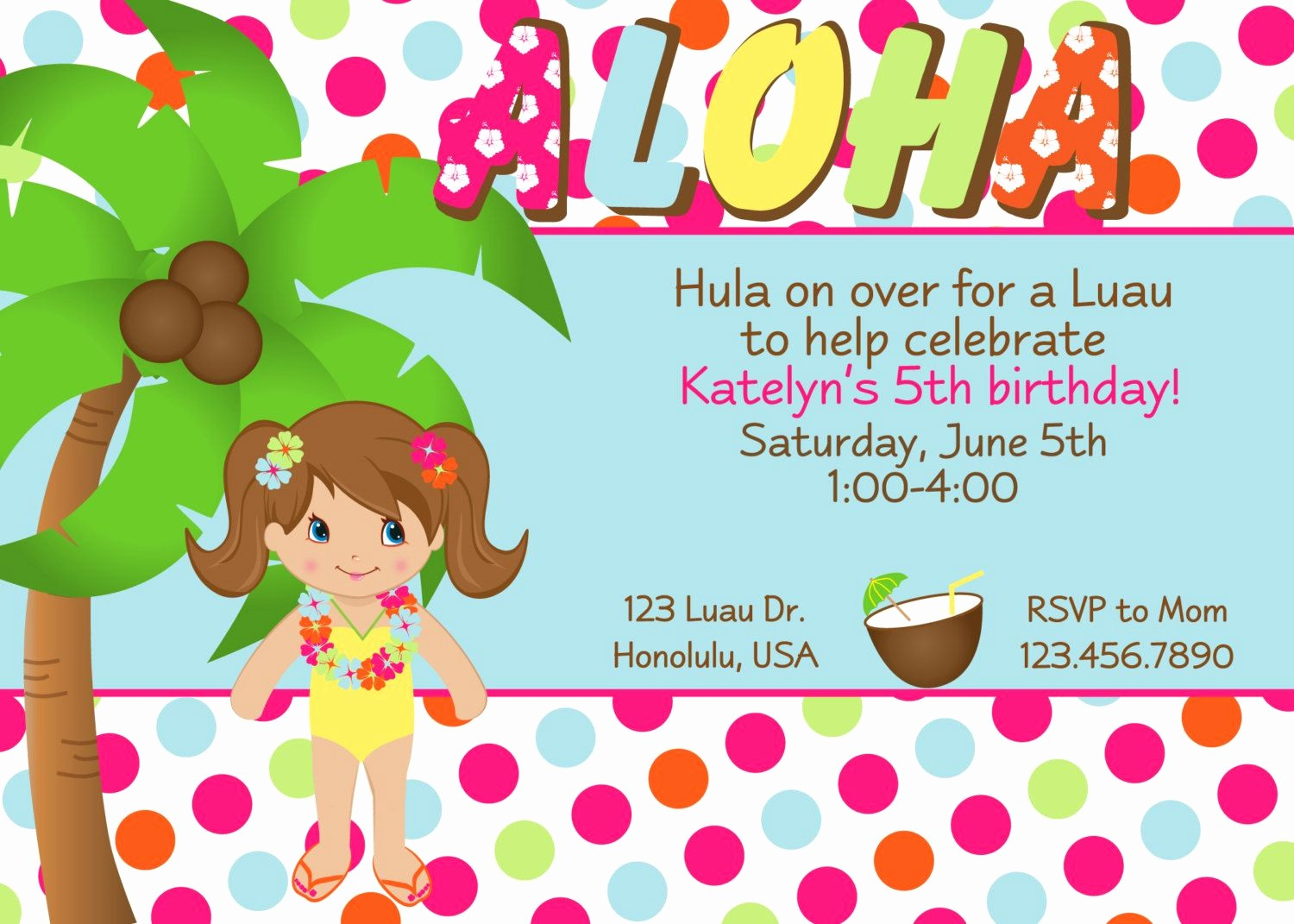 Hawaiian themed Invitation Templates Free Lovely Others Custom Luau Invitations for Your Tropical Getaway