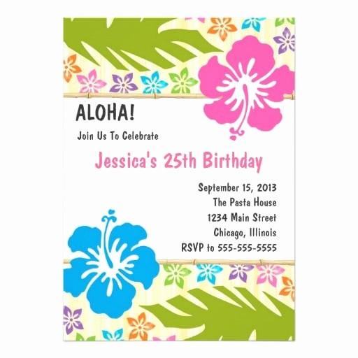 Hawaiian themed Invitation Templates Free Unique Free Hawaiian Invitation Template