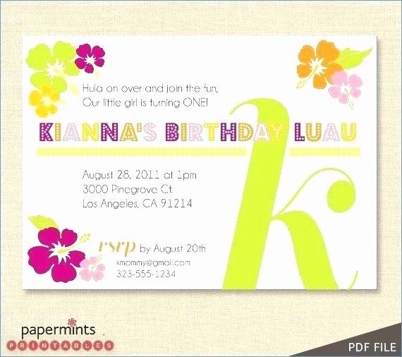Hawaiian themed Invitation Templates Free Unique Hawaiian themed Invitations – andrewmowat