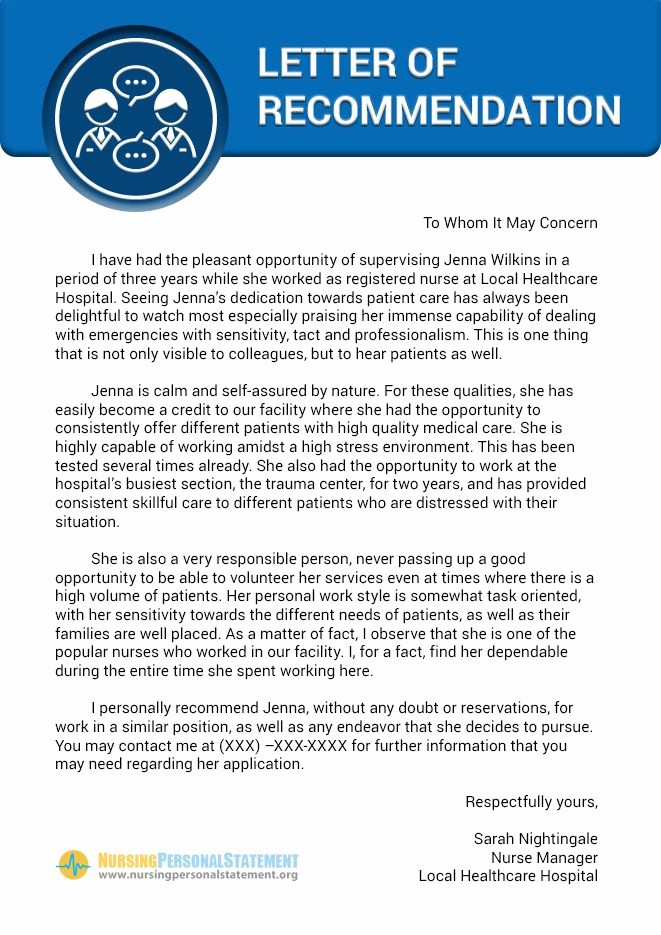 Health Care Letter Of Recommendation Beautiful Pinterest