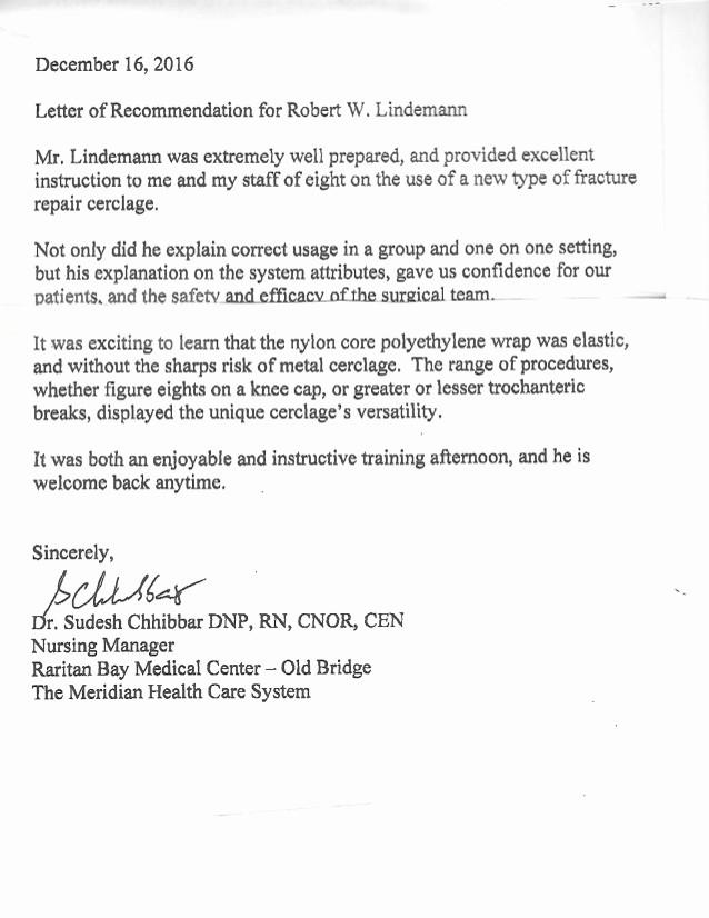Health Care Letter Of Recommendation Unique Nursing Manager Re Mendation Letter Medical Device