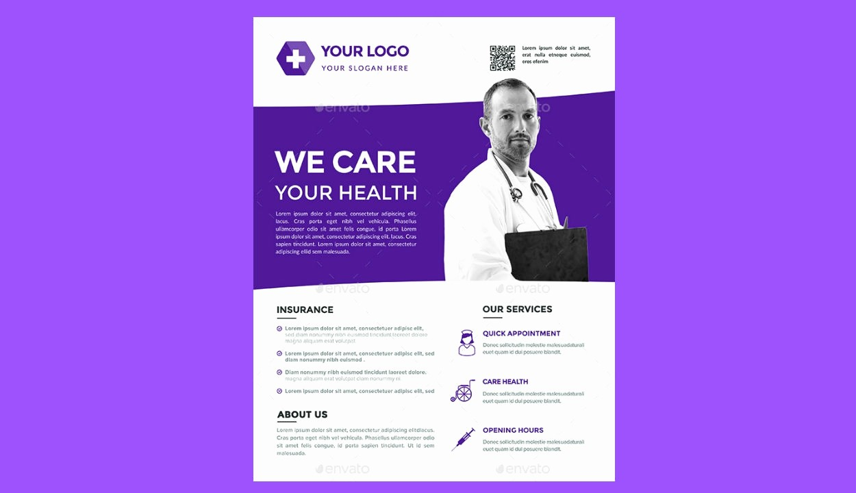 Healthcare Brochure Templates Free Download Fresh 15 Medical Flyer Design Free Editable Psd Ai Vector