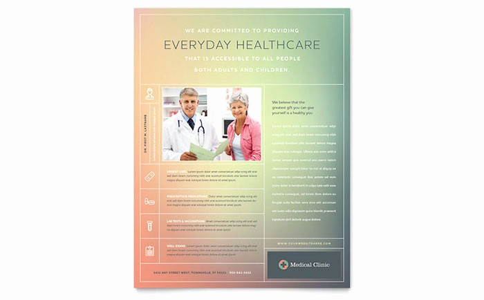 Healthcare Brochure Templates Free Download Fresh Medical Clinic Flyer Template Design