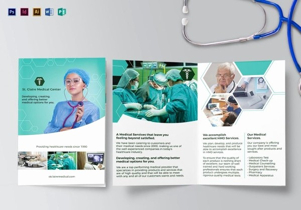 Healthcare Brochure Templates Free Download Inspirational 33 Bi Fold Brochure Templates Free Word Pdf Psd Eps