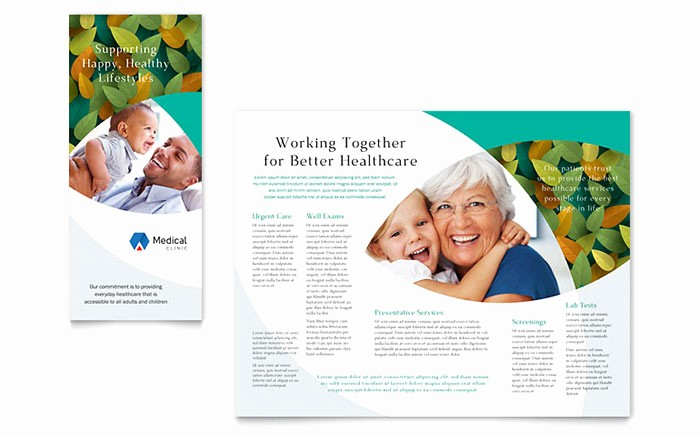 Healthcare Brochure Templates Free Download Inspirational Doctor S Fice Brochure Template Design