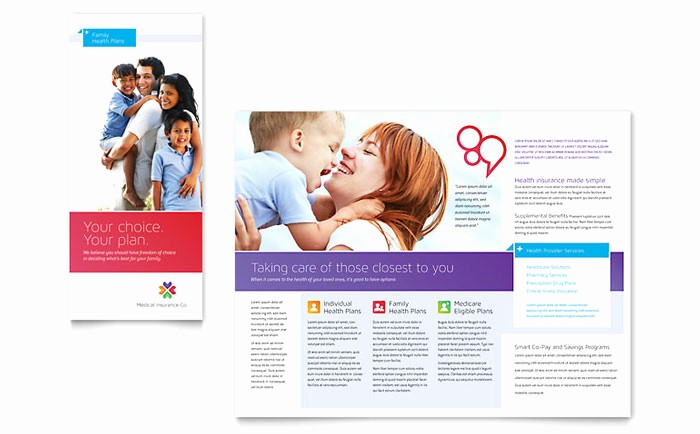 Healthcare Brochure Templates Free Download Inspirational Medical Insurance Brochure Template Design