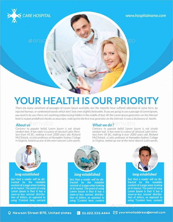 Healthcare Brochure Templates Free Download Lovely 33 Health Flyer Designs