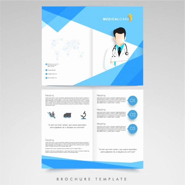 Healthcare Brochure Templates Free Download Lovely Medical Brochure Template Vector