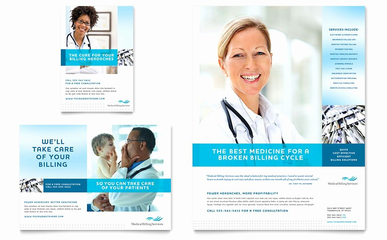 Healthcare Brochure Templates Free Download Luxury Medical Billing & Coding Flyer & Ad Template Word