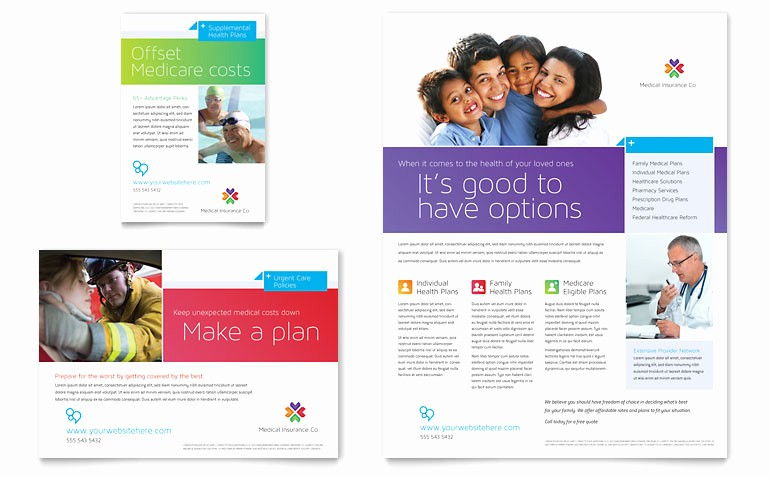 Healthcare Brochure Templates Free Download New Medical Insurance Flyer & Ad Template Word & Publisher